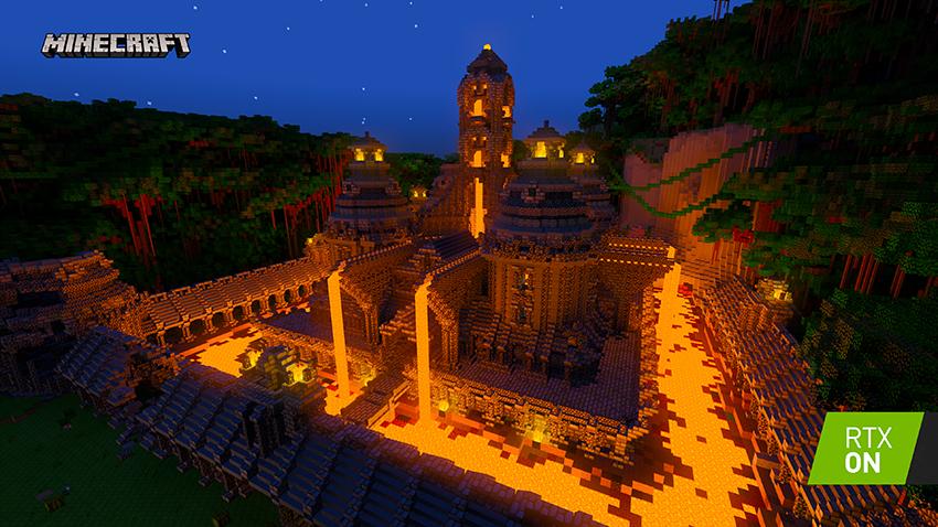 NVIDIA mostra como serão mundos de Minecraft com Ray Tracing