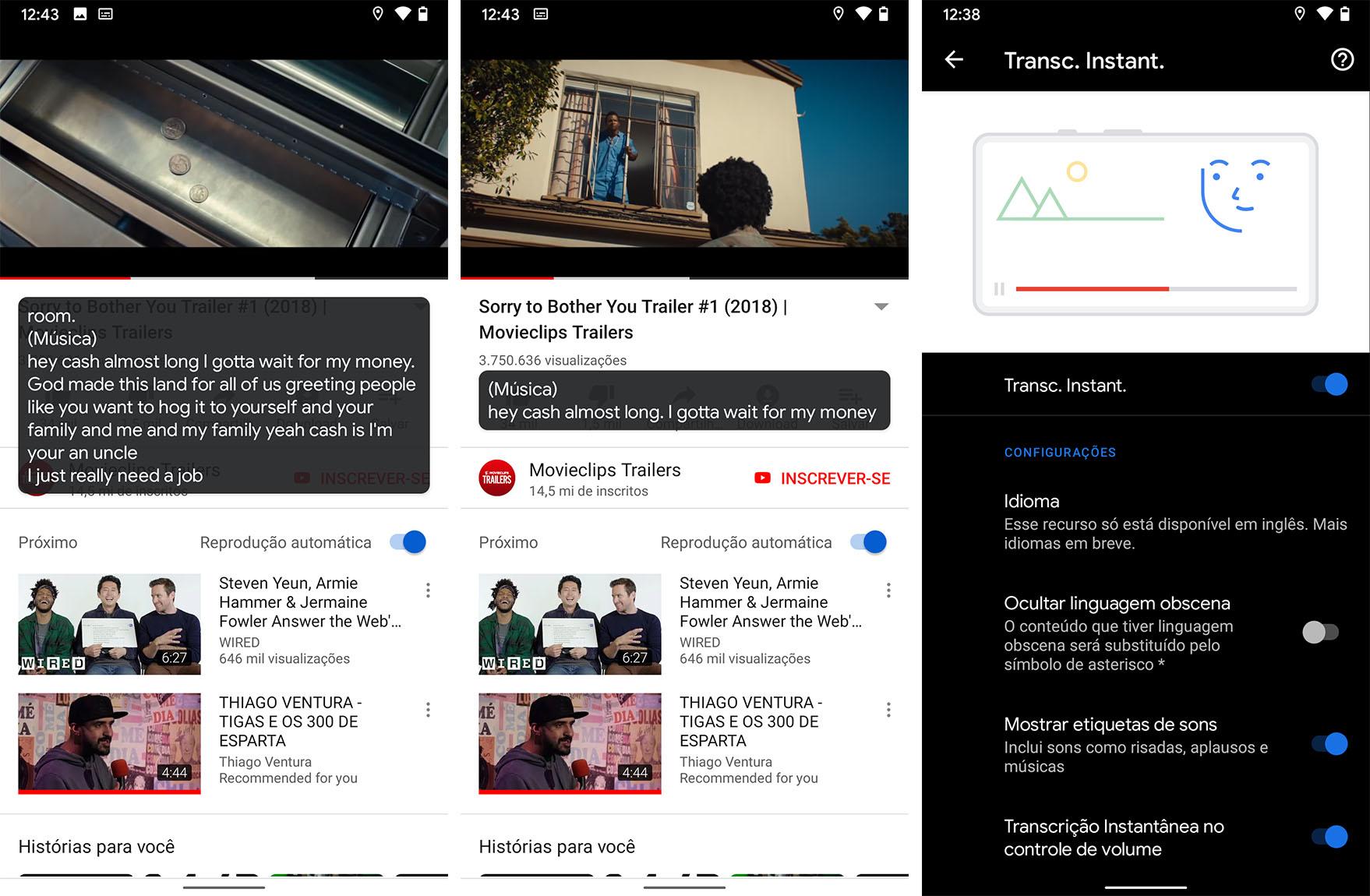Função nativa para gravação de tela aparece em menus do novo Android 11.