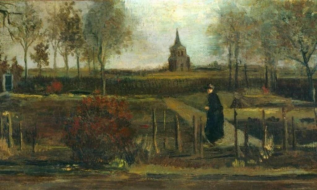 Spring Garden, de 1884, por Van Gogh.(Fonte: Público/Reprodução)