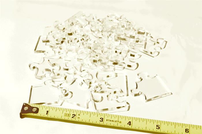 Quanto maior o nível de dificuldade, menor o tamanho das peças