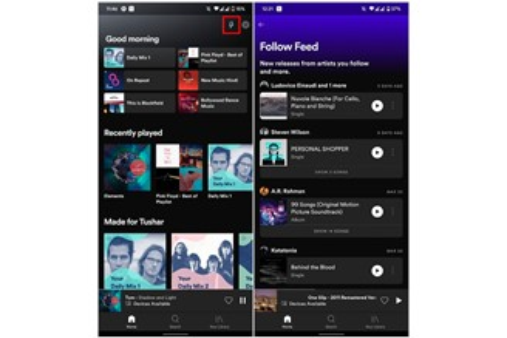 O novo feed pode ser acessado no botão em forma de raio, presente na tela inicial