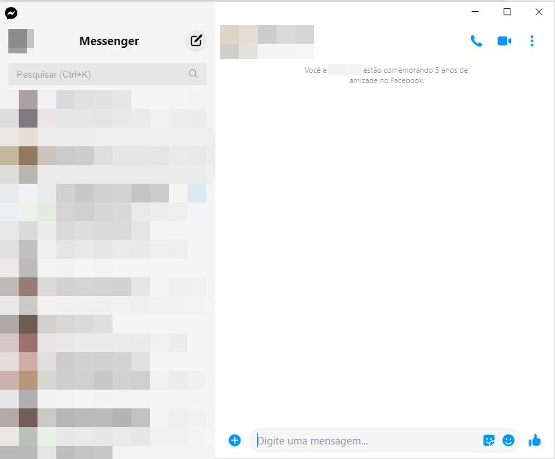 O aplicativo apresenta as principais funções do Messenger