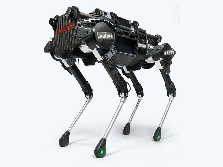 """O """"robô cachorro"""" Laikago foi criado pela chinesa Unitree Robotics."""