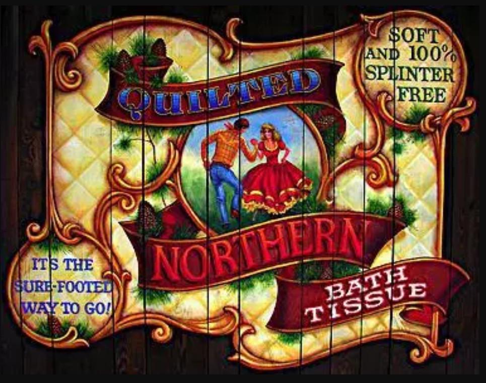 Propaganda da Northen Tissue de 1935 para o papel higiênico sem lascas. (Fonte: Flickr/Reprodução)