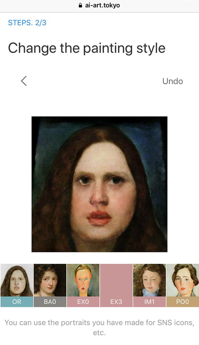 O filtro ainda permite escolher entre 10 estilos de pinturas com traços renascentistas.