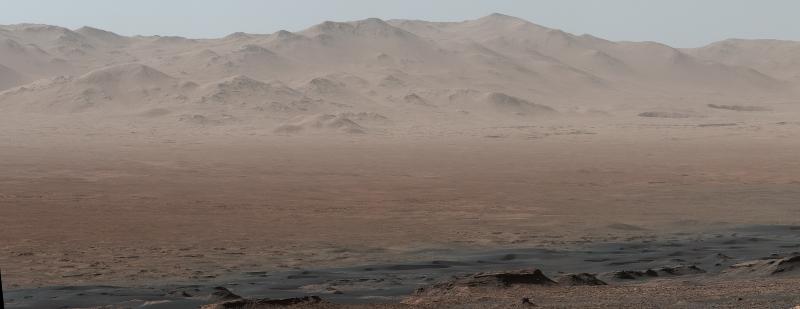 Imagem de Marte tirada pela sonda Curiosity