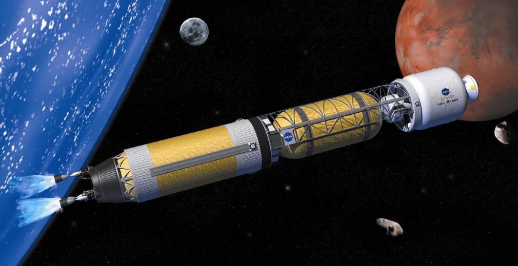 Satélite da NASA que já utiliza a propulsão térmica nuclear. (Fonte: From Space with Love)