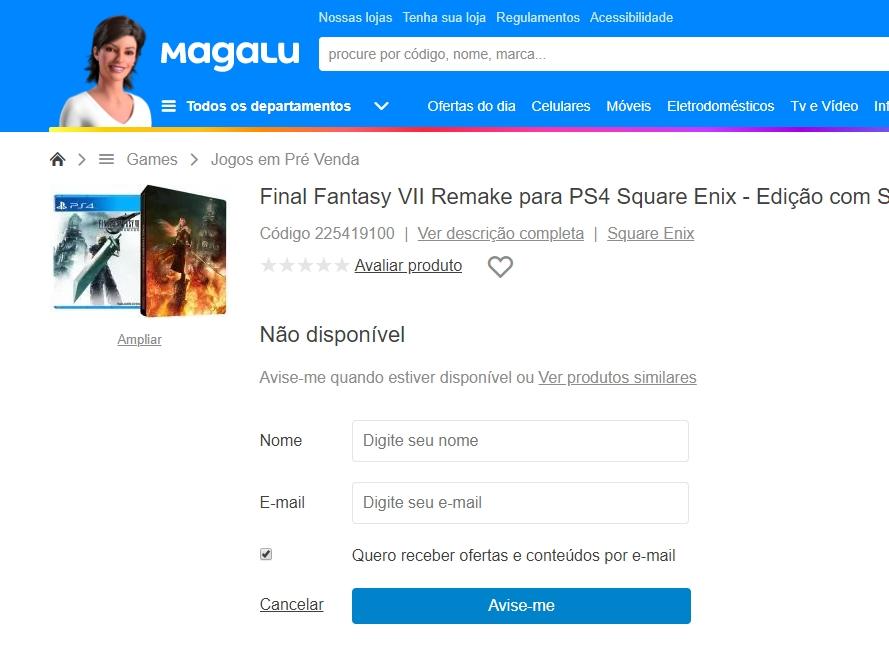 Final Fantasy 7 Remake: versão steelbook não chegará ao Brasil [ATUALIZADO]