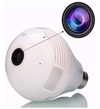 Imagem: Lâmpada com Câmera IP Wifi, Hardfast HF01