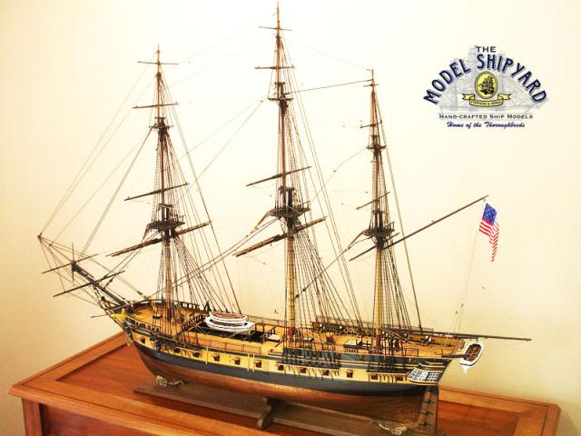 Um modelo de como era o navio Essex