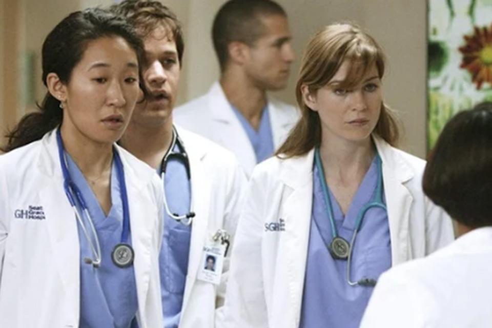 Uma das primeiras cenas de apresentação dos personagens da série
