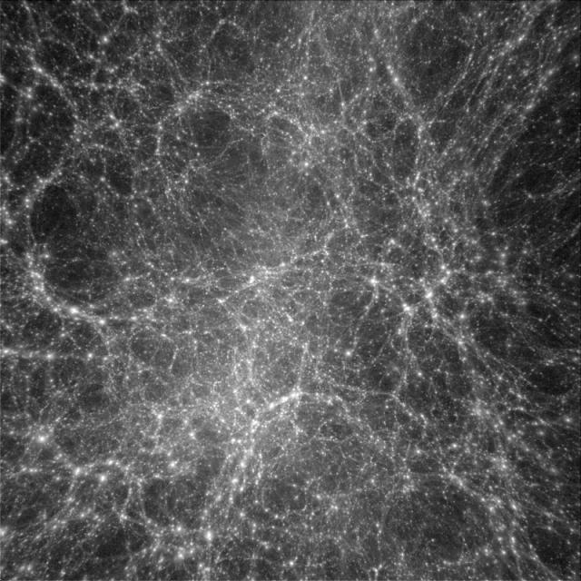 A organização de uma Matéria Escura. (Fonte: Institute for the Physics and Mathematics of the Universe/Reprodução)