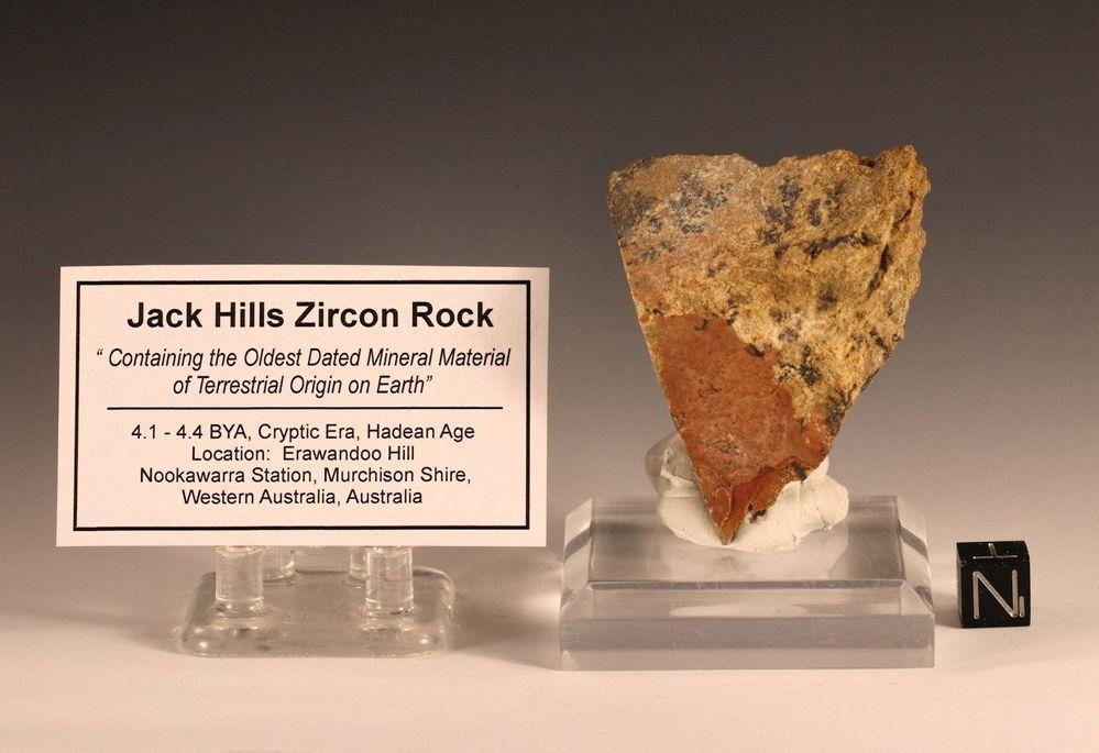 Zircões são cristais encontrados nas rochas mais antigas do planeta.
