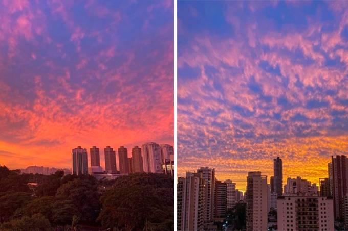 Imagens compartilhadas pelos paulistanos no Instagram (Instagram/Reprodução)