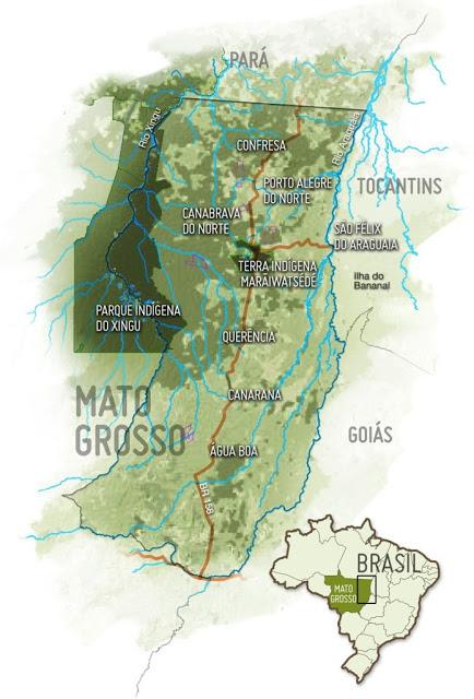 O mapa do local onde o trio teria se perdido. (Fonte: Seguindo Passos História / Reprodução)