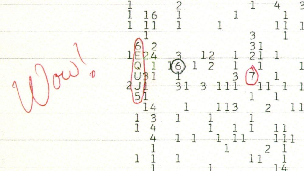 A admiração deixada no papel pelo astrônomo Jerry E. Ehman deu nome ao mais misterioso dos sinais captados do espaço.