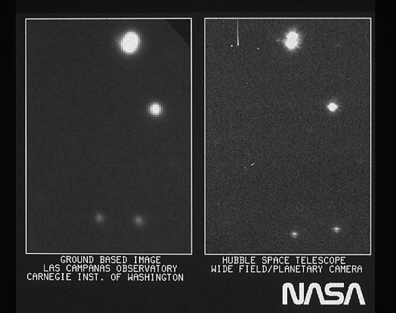 A primeira imagem do Hubble era apenas um pouco melhor do que a captada por um telescópio na Terra.