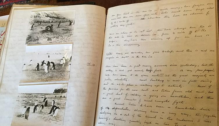 O diário de George Murray Levick. (Fonte: The Natural History Museum/Reprodução)