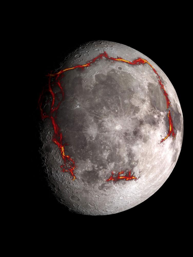 A missão GRAIL revelou atividade tectônica antiga sob a superfície lunar