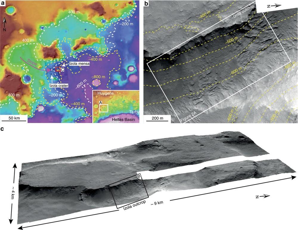 O penhasco, pelas lentes do HiRISE.
