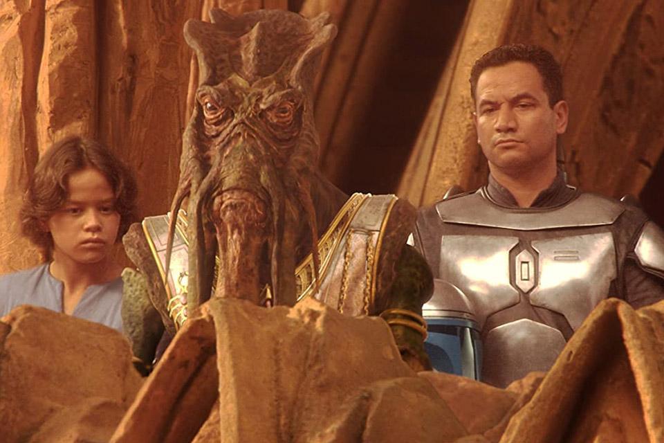 Boba e Jango Fett, em Star Wars: Episódio II - Ataque dos Clones