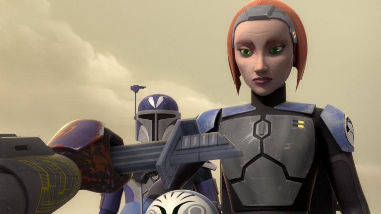 Bo-Katan em The Clone Wars (Disney/Reprodução)