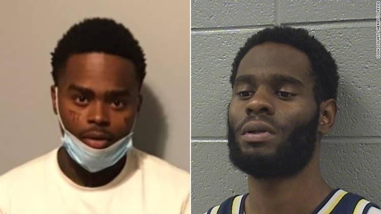 Jahquez Scott (esquerda) e Quintin Henderson (direita). (Fonte: Cook County Sheriff's Office/Reprodução)
