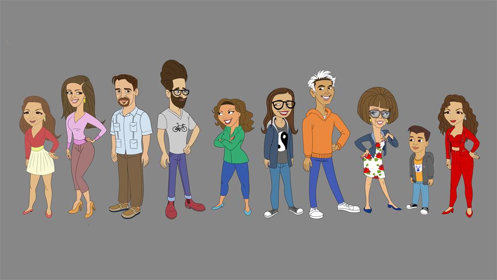 Primeira imagem dos personagens como cartoons