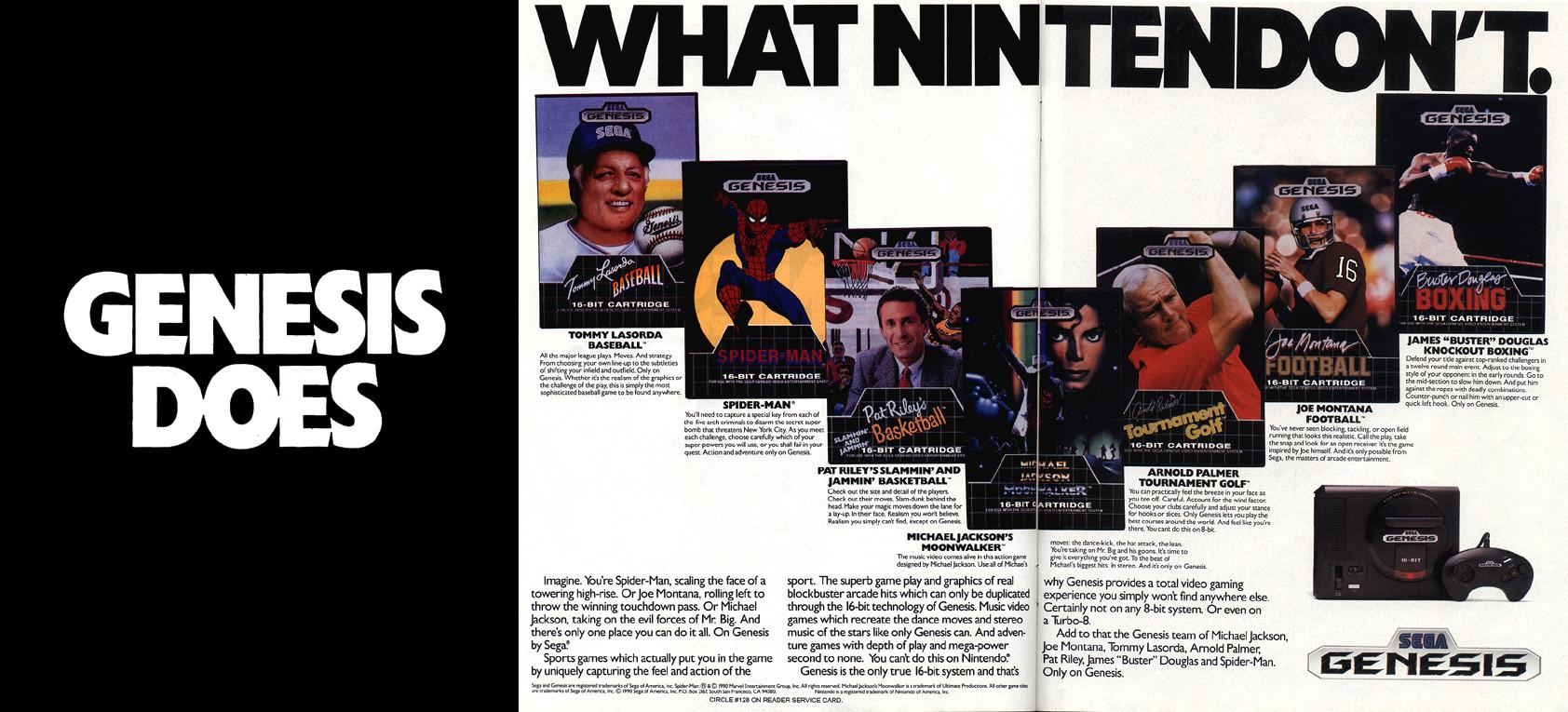 A SEGA fez uma agressiva campanha de marketing contra a Nintendo nos anos 1990