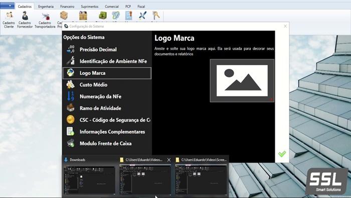 Programa permite a configuração de certos recursos