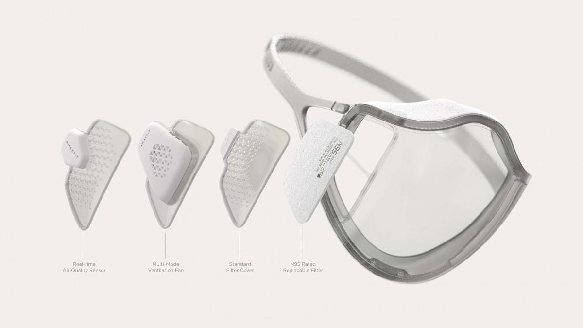 Máscara facilitaria interações sociais por sua transparência.
