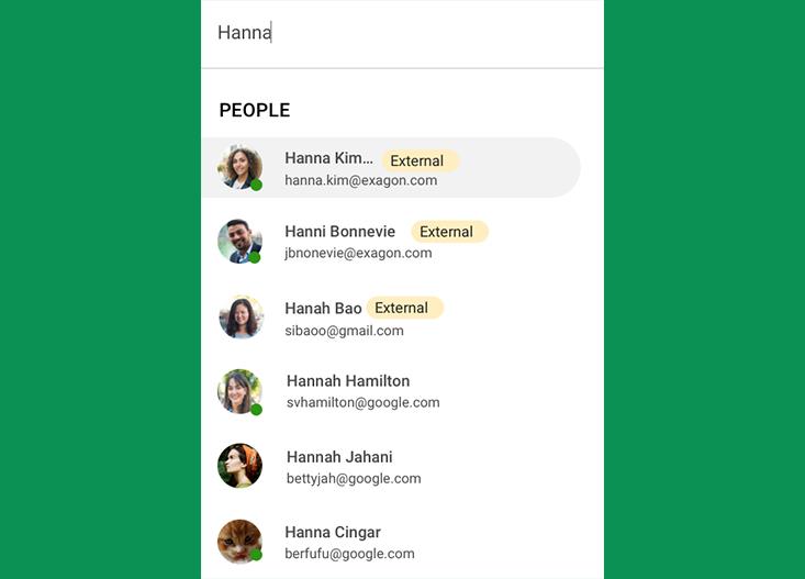 Usuários aparecerão com marcação em salas e grupos de bate-papo do Google Chats.