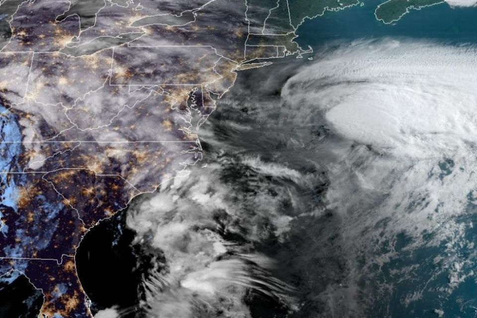 Satellites record the first tropical storm of the season in the USA