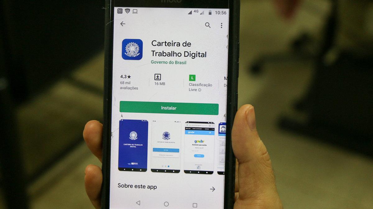 Carteira de Trabalho Digital na Google Play Store