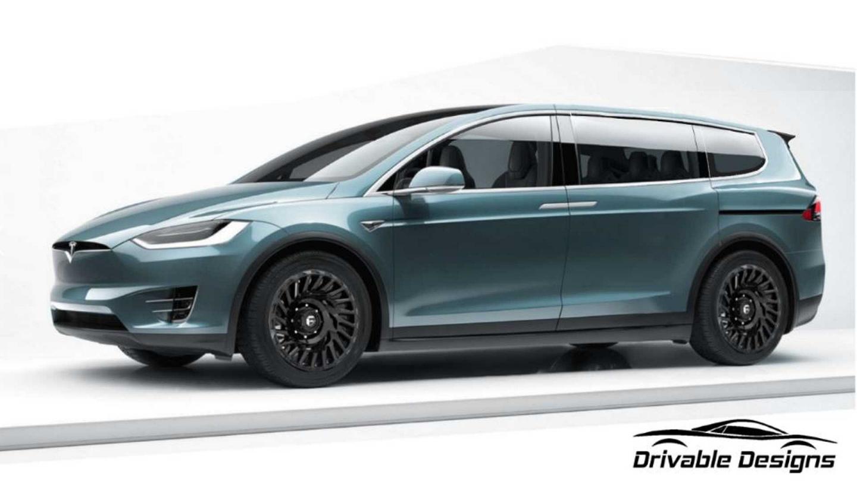 O Tesla Model XL: o conceito da minivan da Tesla finalizado.