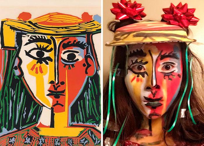 Mulher com Chapéu - Picasso. Fonte: Bored Panda / Divulgação