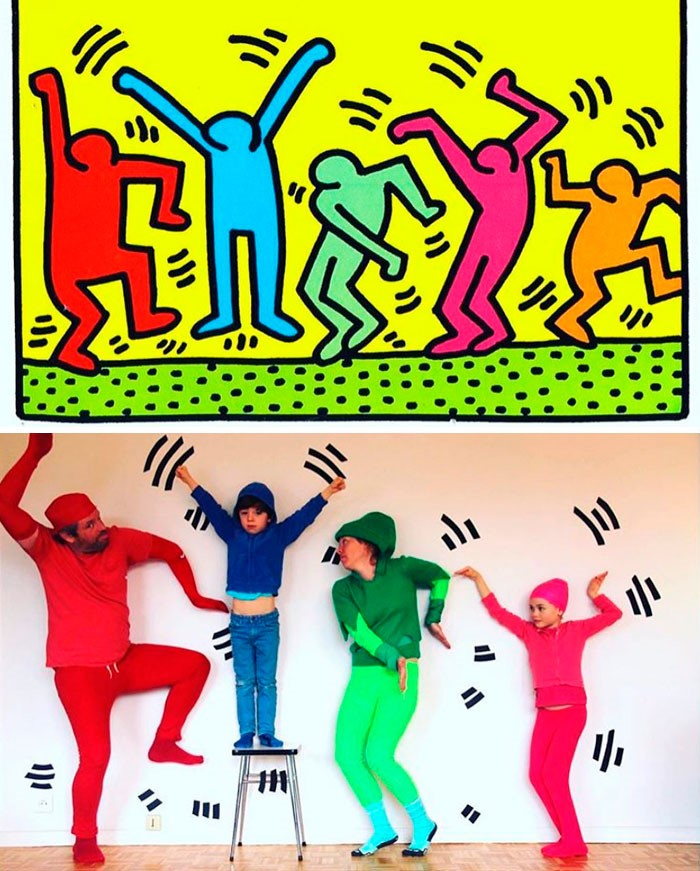 """Pop Art figures"", por Keith Haring"
