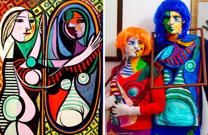 """""""Mulher no Espelho"""", por Picasso. Fonte: Bored Panda / Divulgação"""