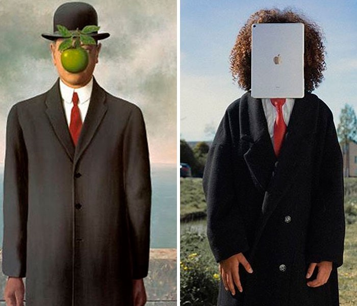 """""""O Filho do Homem"""", por René Magritte. Fonte: Bored Panda / Divulgação"""