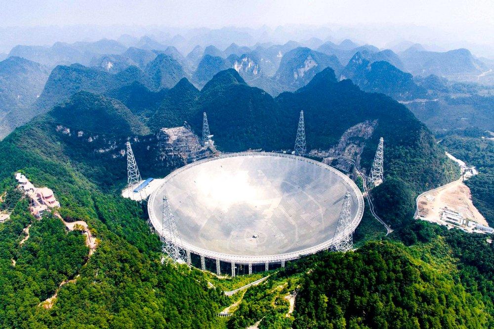Chamado de Tianyan, o radiotelescópio está no centro do programa astrobiológico chinês.