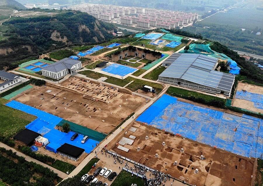 Vista aérea da região de Shuanghuaishu, na província de Henan, no centro da China. Fonte: All That Interesting / Divulgação