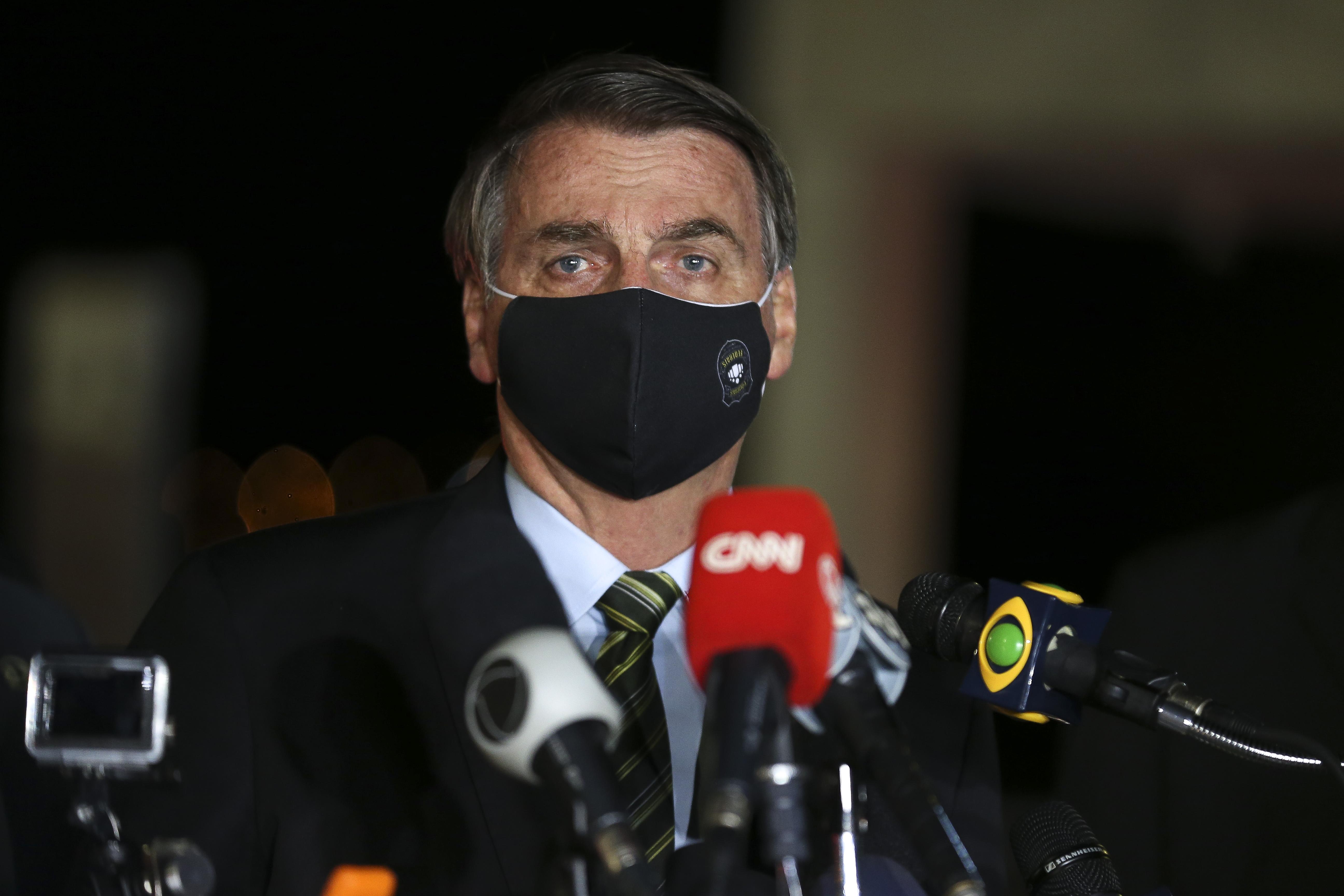 Presidente Jair Bolsonaro em coletiva de imprensa no Palácio da Álvorada. Fonte: Agência Brasil / Reprodução