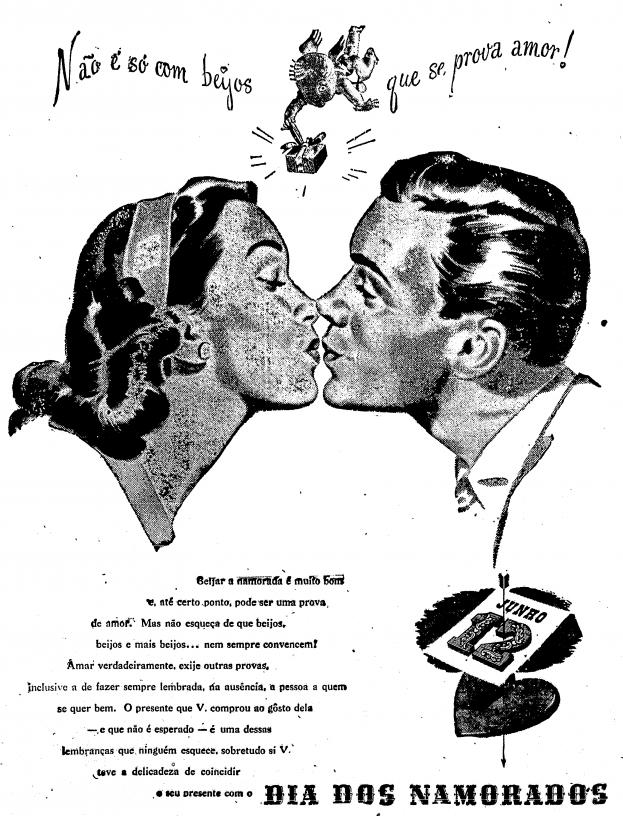 Dia dos Namorados surgiu no Brasil em 1948.