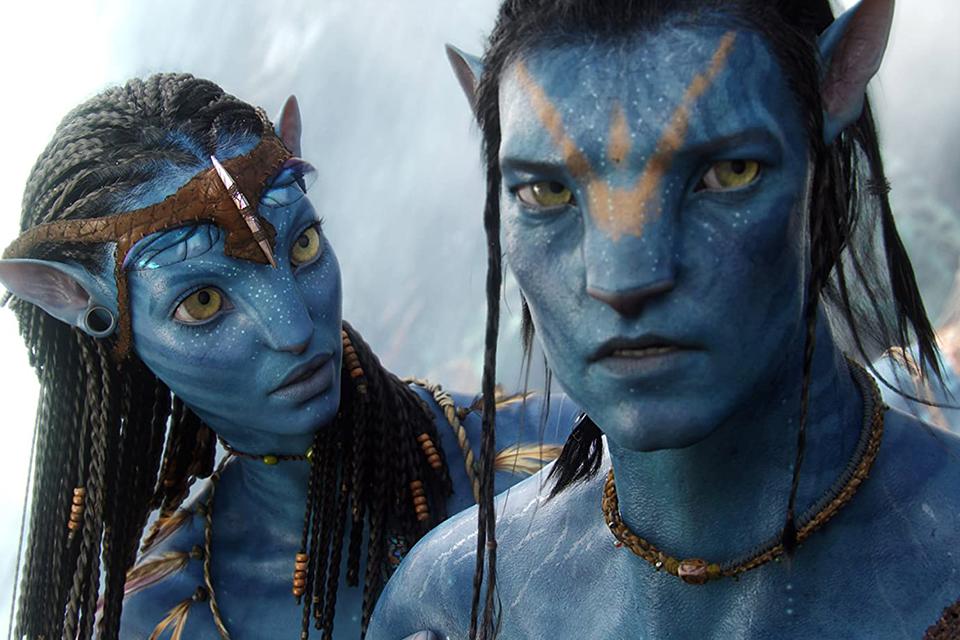 Neytiri e Jake em Avatar