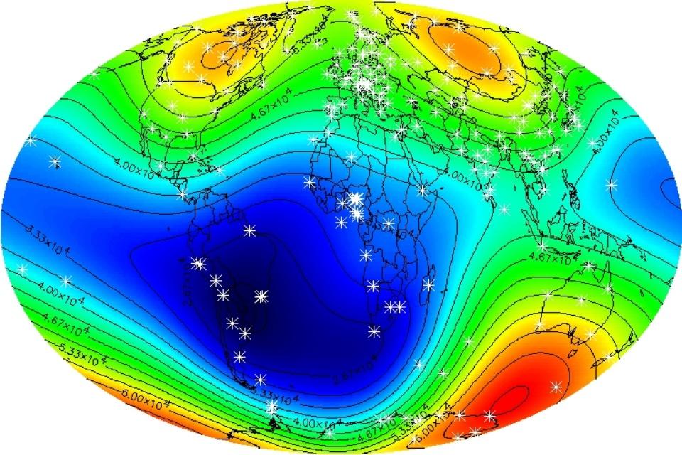 Campo magnético está se enfraquecendo na região do Atlântico Sul