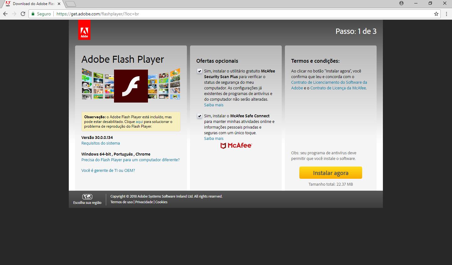 Click Jogos precisa do Adobe Flash Player para jogar