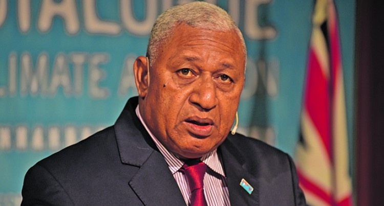 Frank Bainimarama, o primeiro-ministro de Fiji. (Fonte: Fiji Sun/Reprodução)