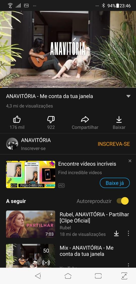 A interface simplificada exibe o conteúdo do YouTube e logo ao lado da opção de
