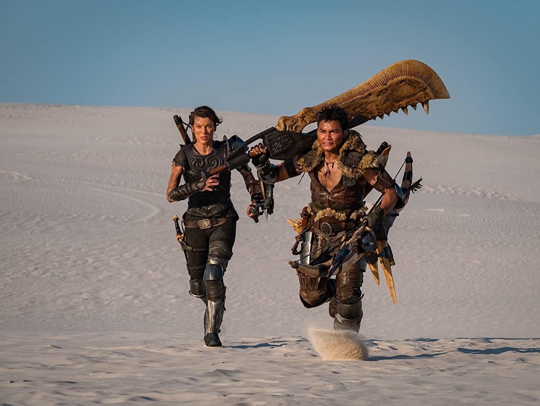 Milla (à esquerda) e Tony Jaa nos papéis de Artemis e The Hunter. (Fonte: Sony Pictures/Divulgação)