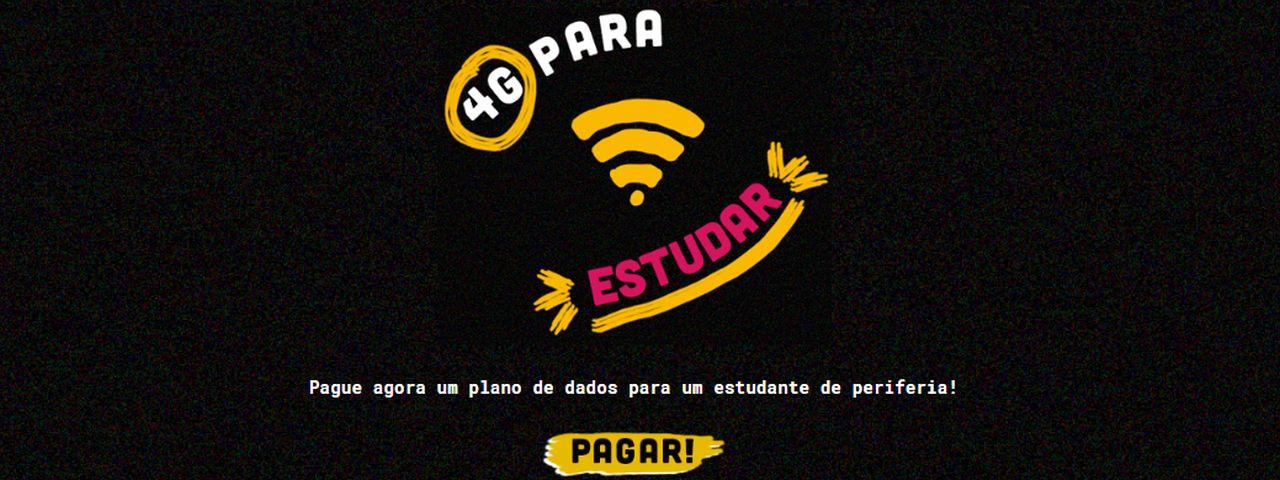 Imagem de: '4G Para Estudar' garante acesso à web para alunos carentes